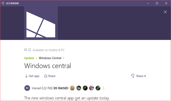 Windows Central | AppRaisin