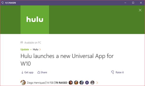 Hulu | AppRaisin