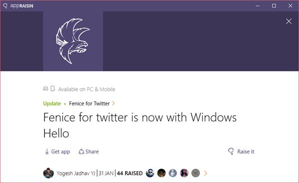 Fenice for Twitter | AppRaisin