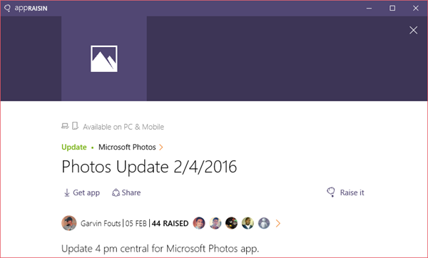 Microsoft Photos | AppRaisin
