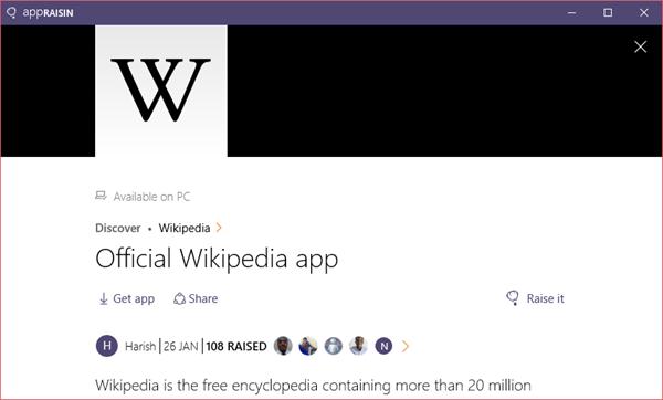 Wikipedia | AppRaisin