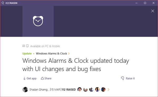 Windows Alarms & Clock | AppRaisin
