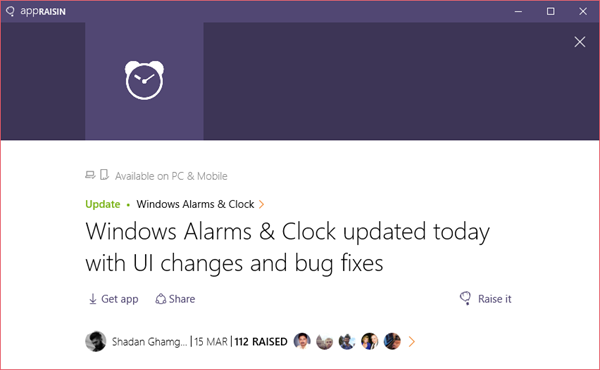 Windows Alarms & Clock | AppRaisin