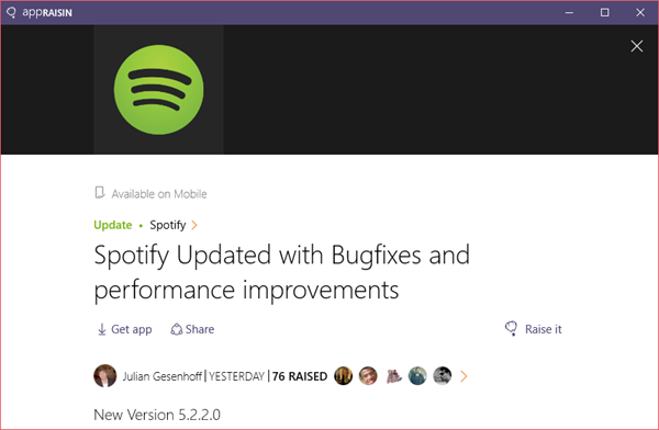 Spotify | AppRaisin
