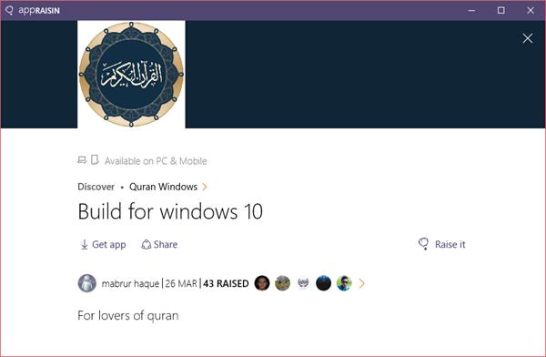 Quran Windows | AppRaisin