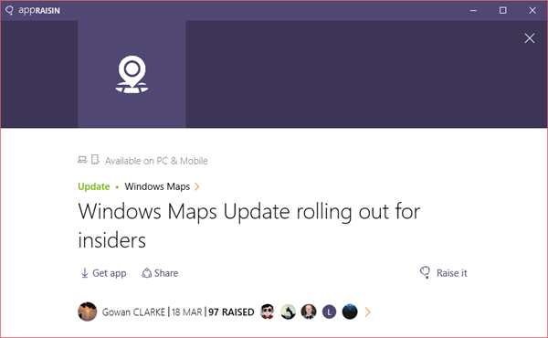 Windows Maps | AppRaisin