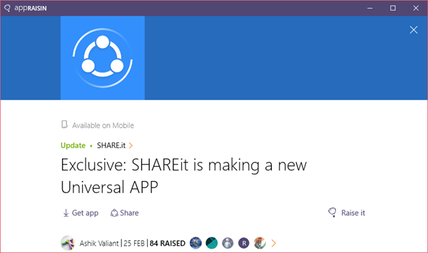 SHARE.it | AppRaisin