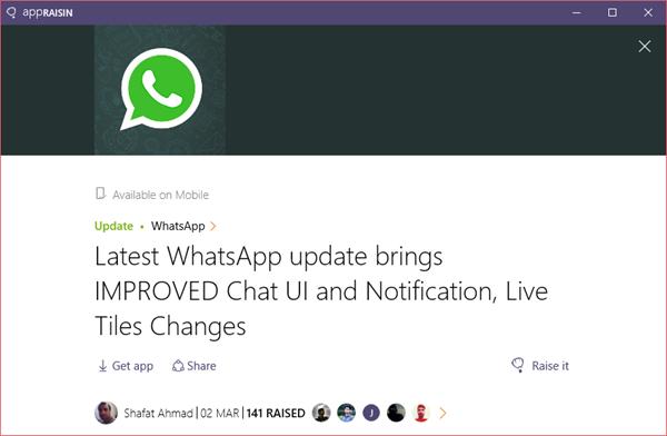 WhatsApp | AppRaisin