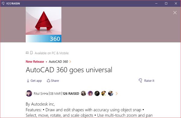 AutoCAD 360 | AppRaisin