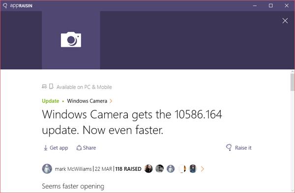 Windows Camera | AppRaisin