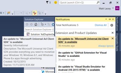 Using AdDuplex with Microsoft's Ad Mediation service in UWP