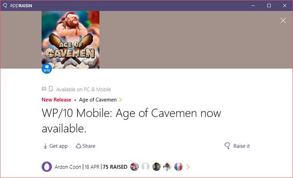 Age of Cavemen | AppRaisin