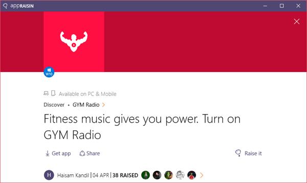 GYM Radio | AppRaisin