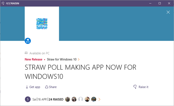 Straw for Windows 10 | AppRaisin