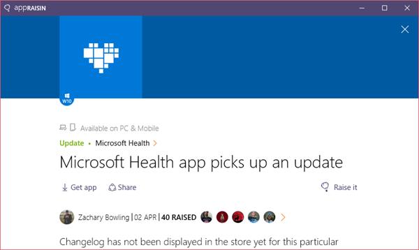 Microsoft Health | AppRaisin
