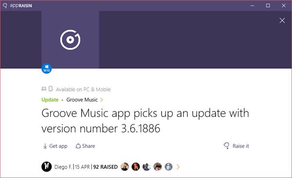 Groove Music | AppRaisin