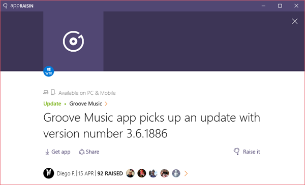 Groove Music | AppRaisin