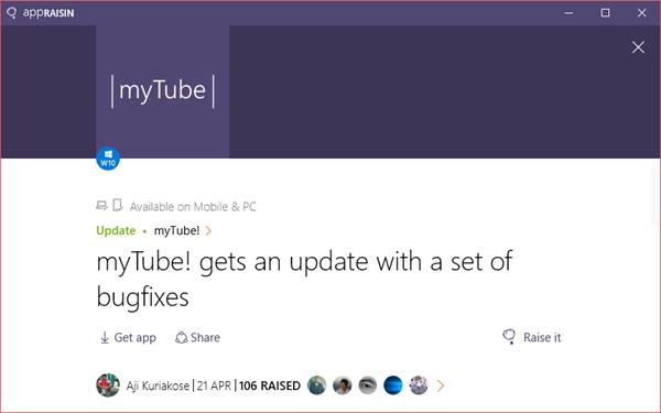 myTube! | AppRaisin