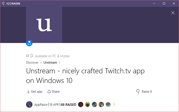 Unstream | AppRaisin