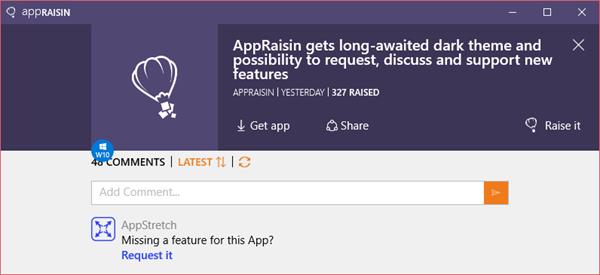 AppRaisin update