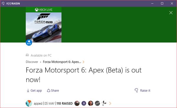 Forza Motorsport 6: Apex (Beta) | AppRaisin