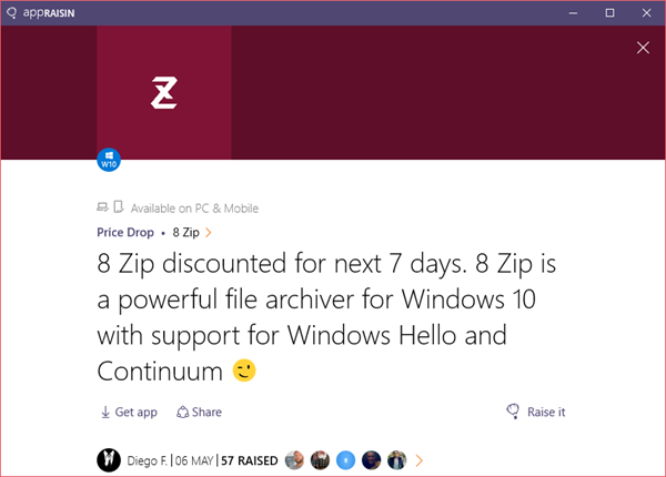 8 Zip | AppRaisin